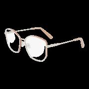 Armação Salvatore Ferragamo Cat-Eye SF2204 718 56 Prateado