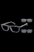 Óculos Emporio Armani Quadrado EA4160 CLIPON 50881W 55 Azul