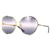 Óculos Gucci Oval GG0595S 005 64 Dourado/Preto