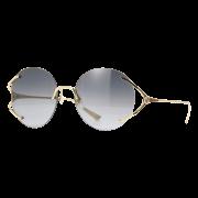 Óculos Gucci Round GG0645S 001 57 Dourado