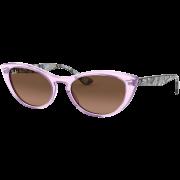 Óculos Ray Ban Cat Eye RB4314N 128443 54 Marrom Translúcido