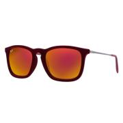 Óculos Ray Ban Clássico RB4187 60786Q 54 Veludo Vermelho