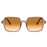 Óculos Ray Ban Quadrado RB1973 128151 53 Translúcido