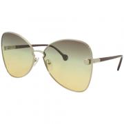 Óculos Salvatore Ferragamo Borboleta SF184S 707 64 Dourado
