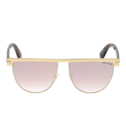 Óculos Tom Ford Sunglasses Flat Top TF0570 28Z 60 Dourado