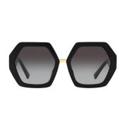 Óculos Valentino Polygonal VA4053 50018G 57 Dourado/Preto