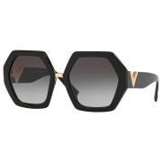 Óculos Valentino Hexagonal VA4053 50018G 57 Dourado/Preto