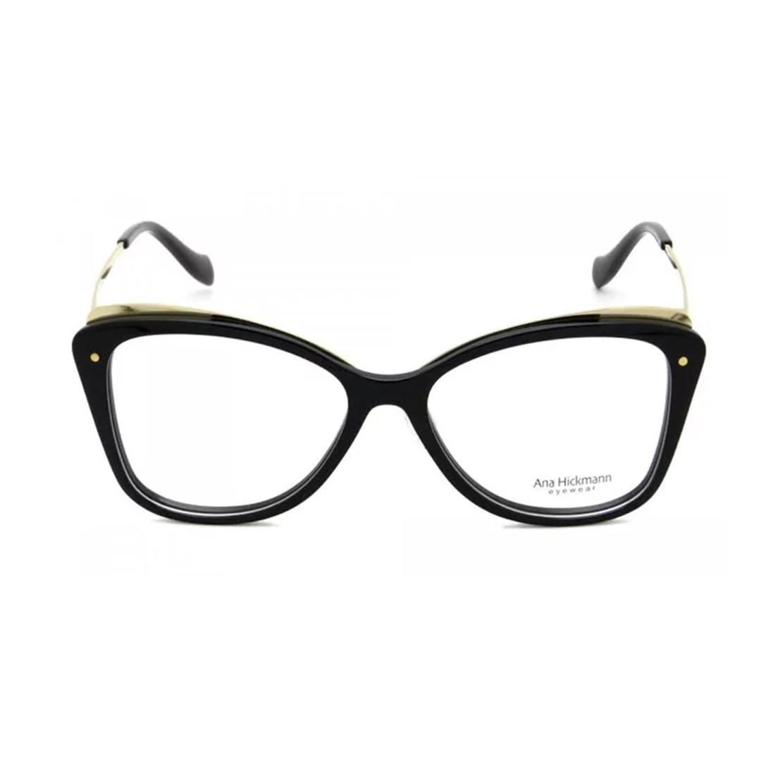 Armação Ana Hickman Cat-Eye AH6325 A01 53 Preto