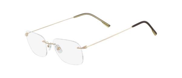 Armação Calvin Klein Clássico CK536 041 52 Dourado