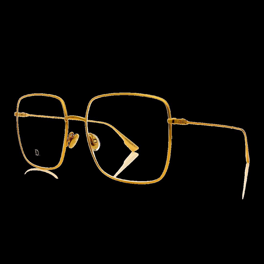 Armação Dior Quadrado StellaireO1 J5G 56 Dourado