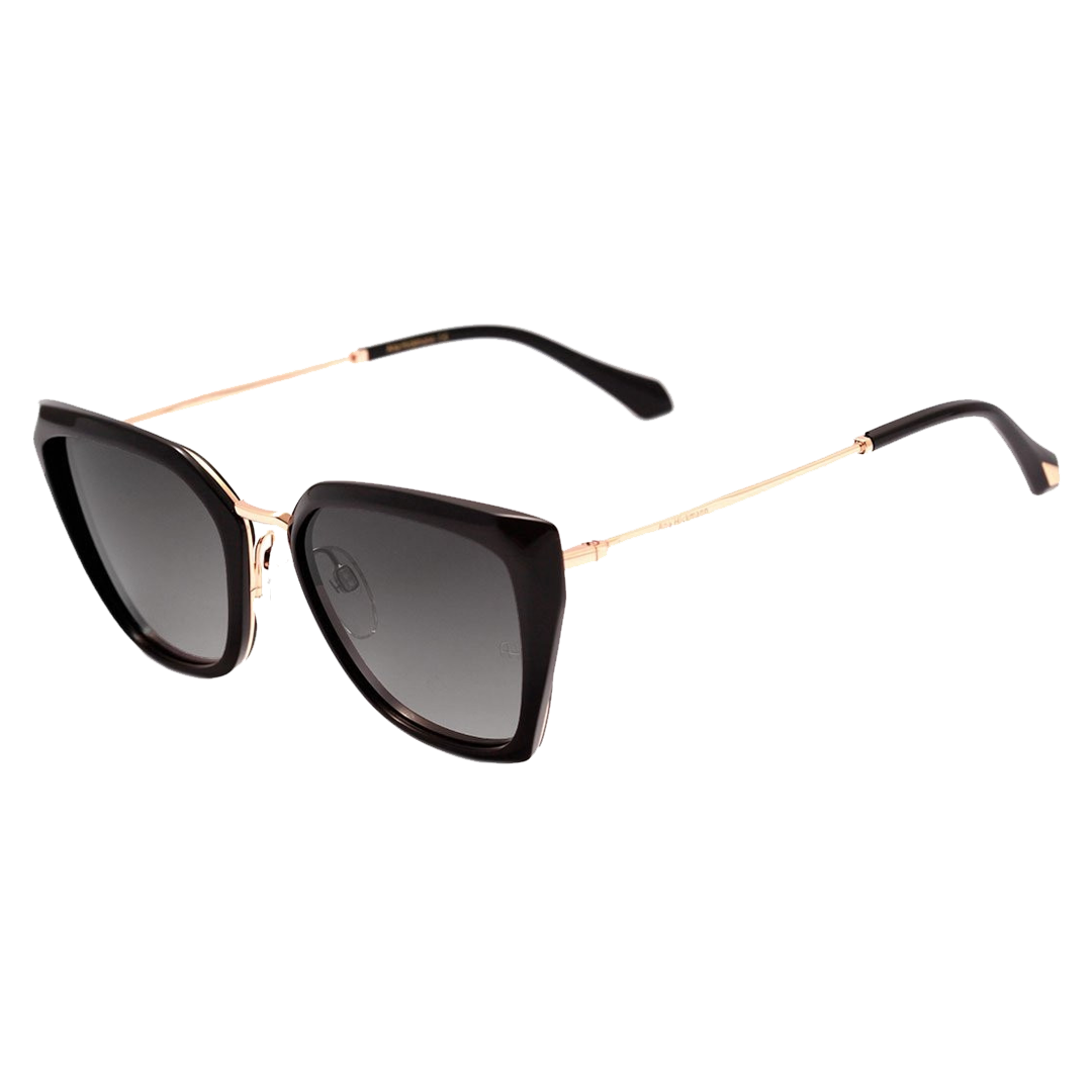 Óculos Ana Hickman Cat-Eye AH9290 C01S 55 Cinza