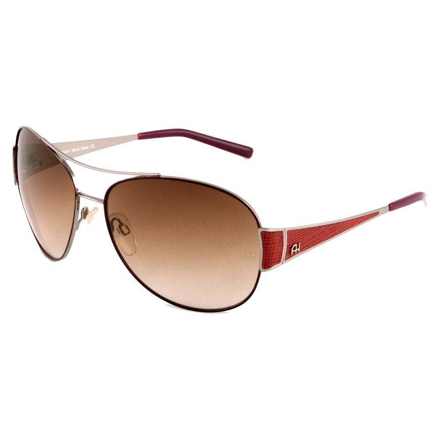 Óculos Ana Hickman Oval AH3077 01C 63 Marrom Escuro