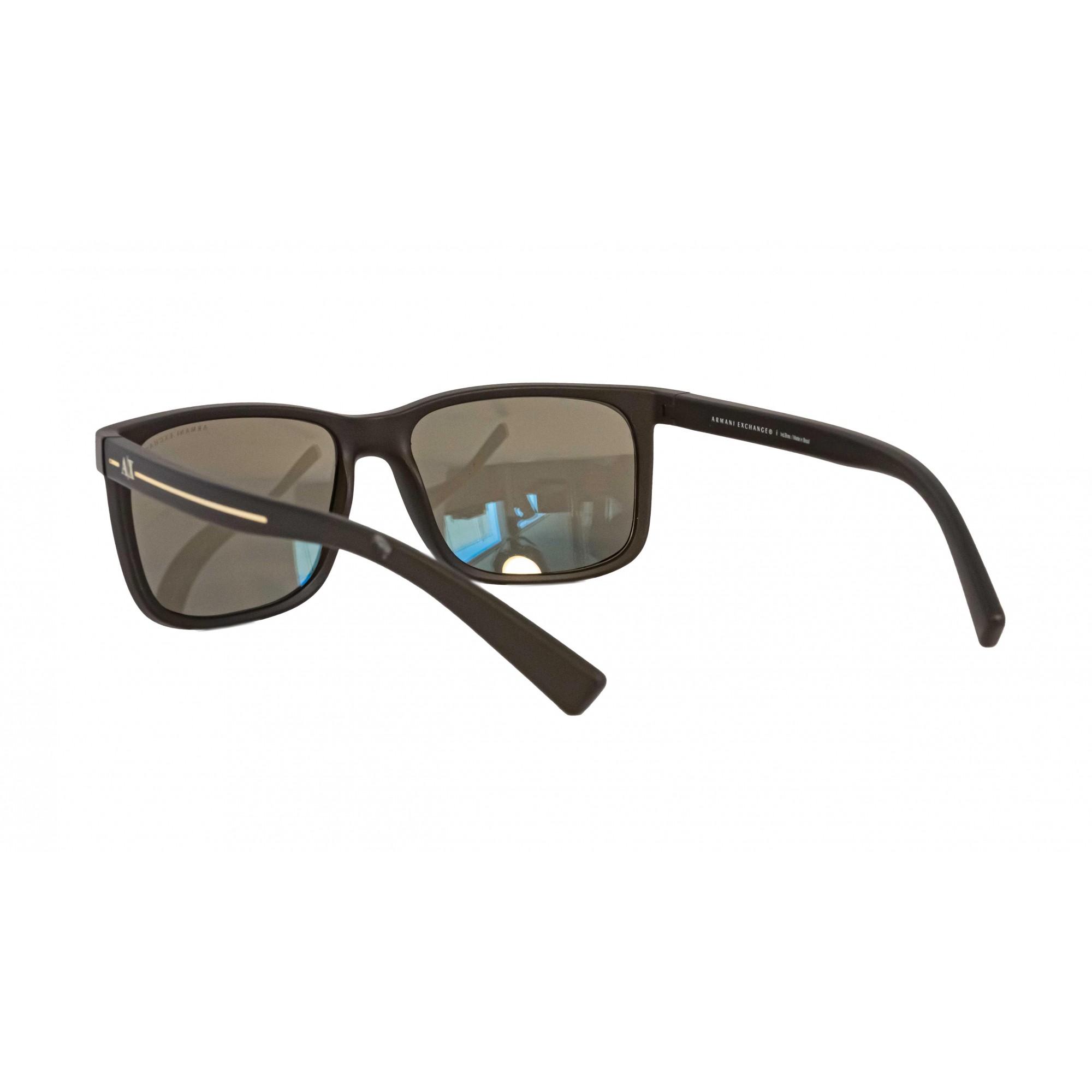 Óculos Armani Exchange Quadrado ax4041sl 80625a 58 Marrom