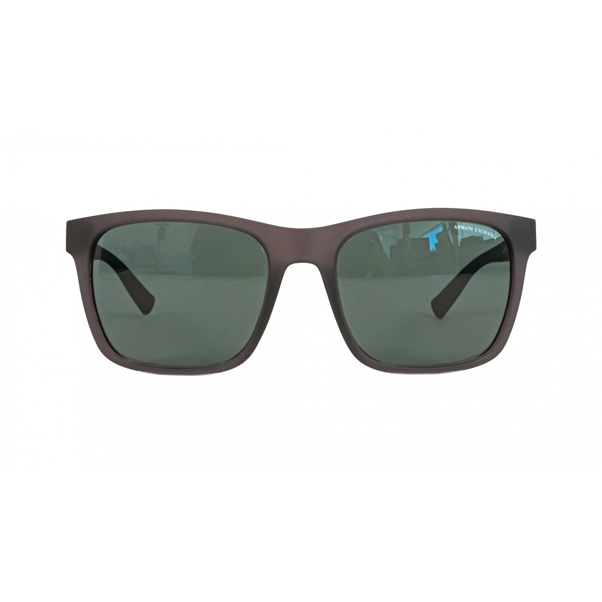 Óculos Armani Exchange quadrado ax4063sl 830571 57 Cinza