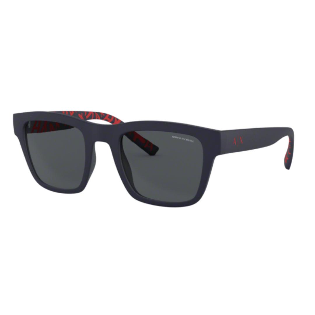 Óculos Armani Exchange Quadrado AX4088S 817781 52 Azul Fosco