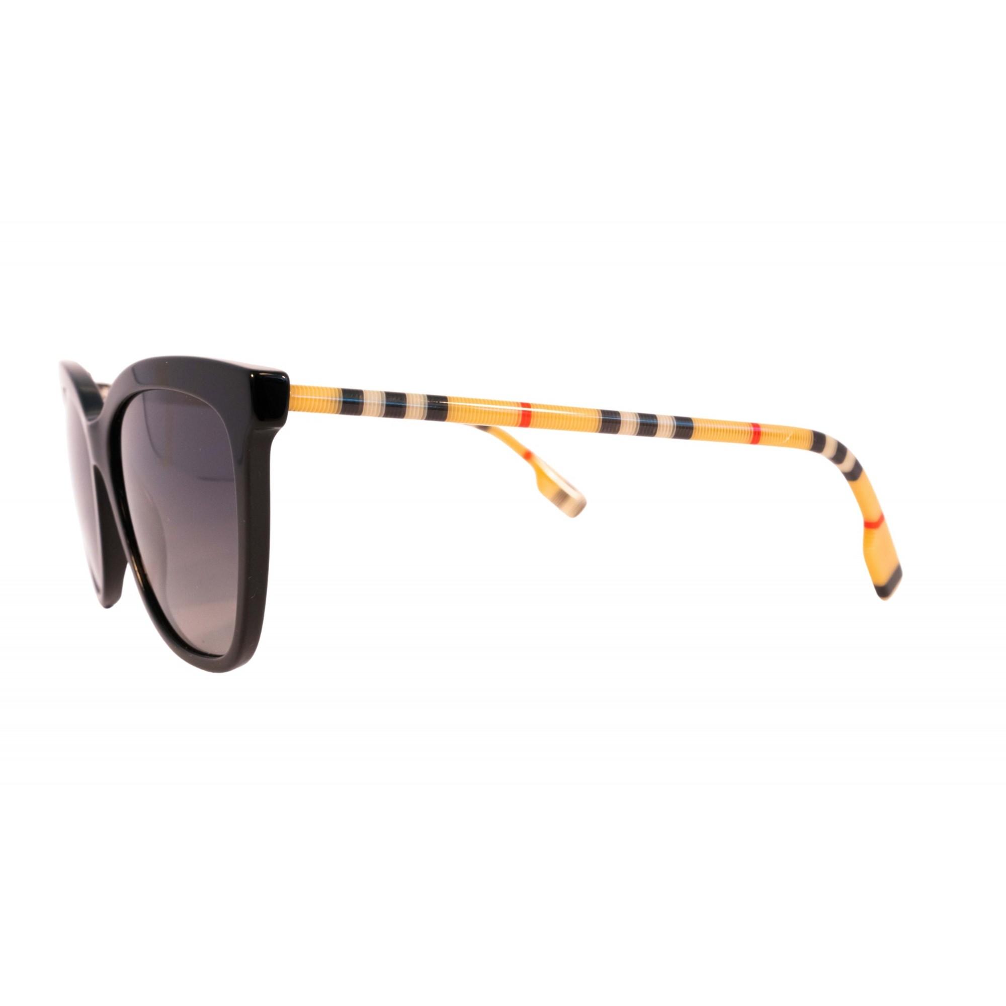 Óculos Burberry Cat Eye be4308 3853T3 56 Preto