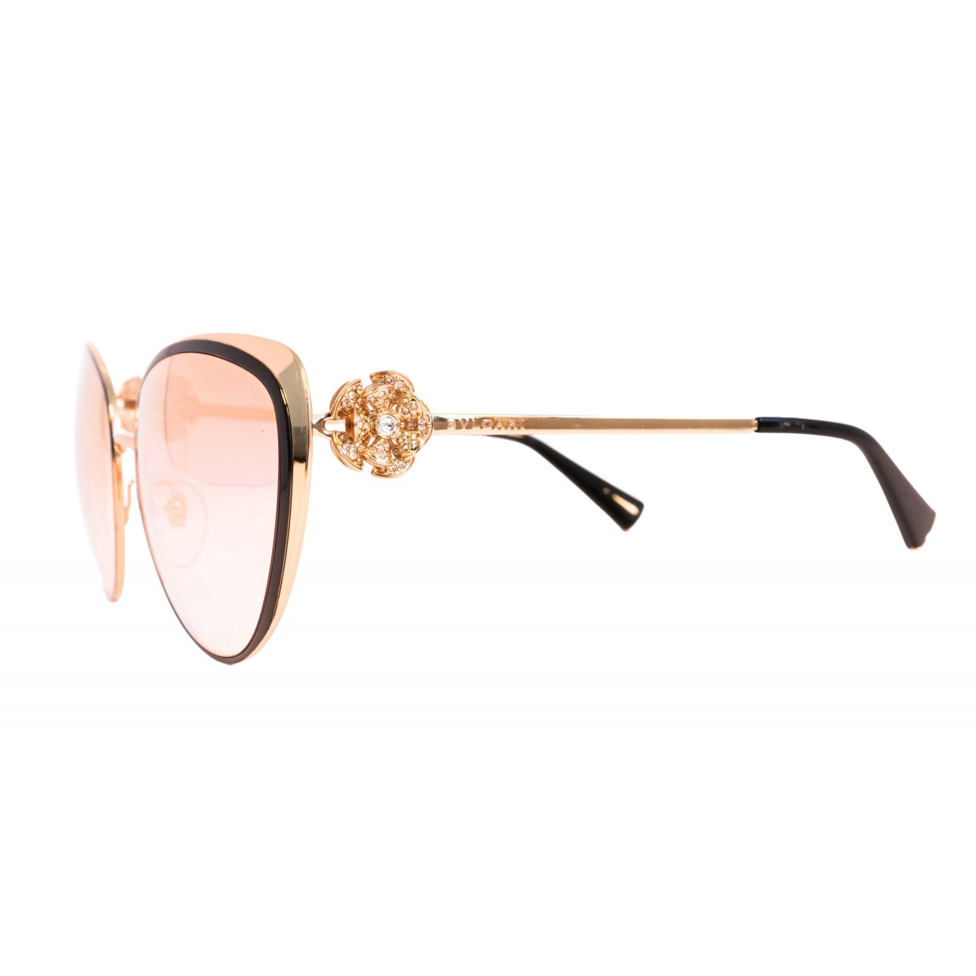 Óculos Bvlgari Cat Eye bv6092B 2396F 57 Dourado