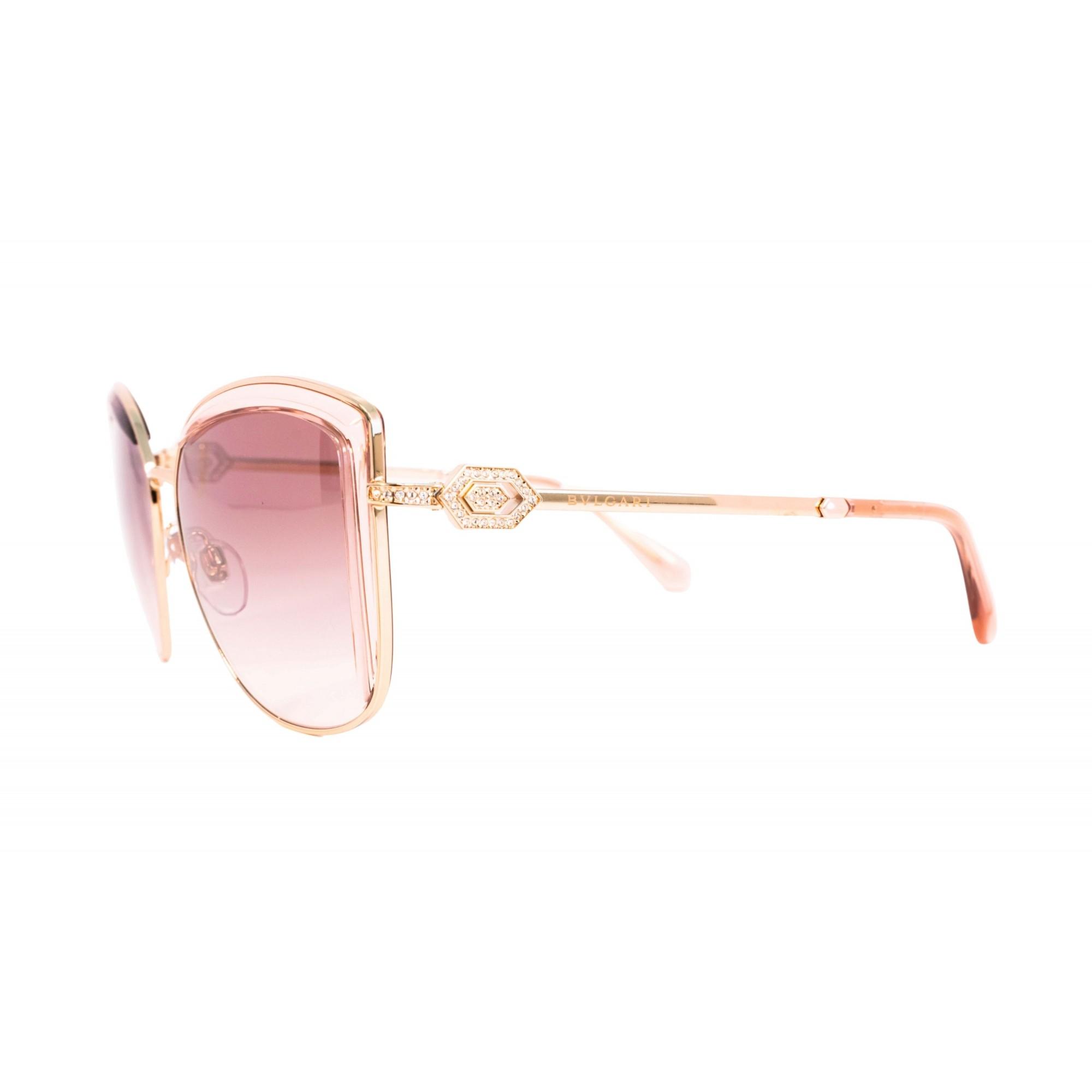 Óculos Bvlgari Cat Eye bv6128B 20143b 56 Rosé