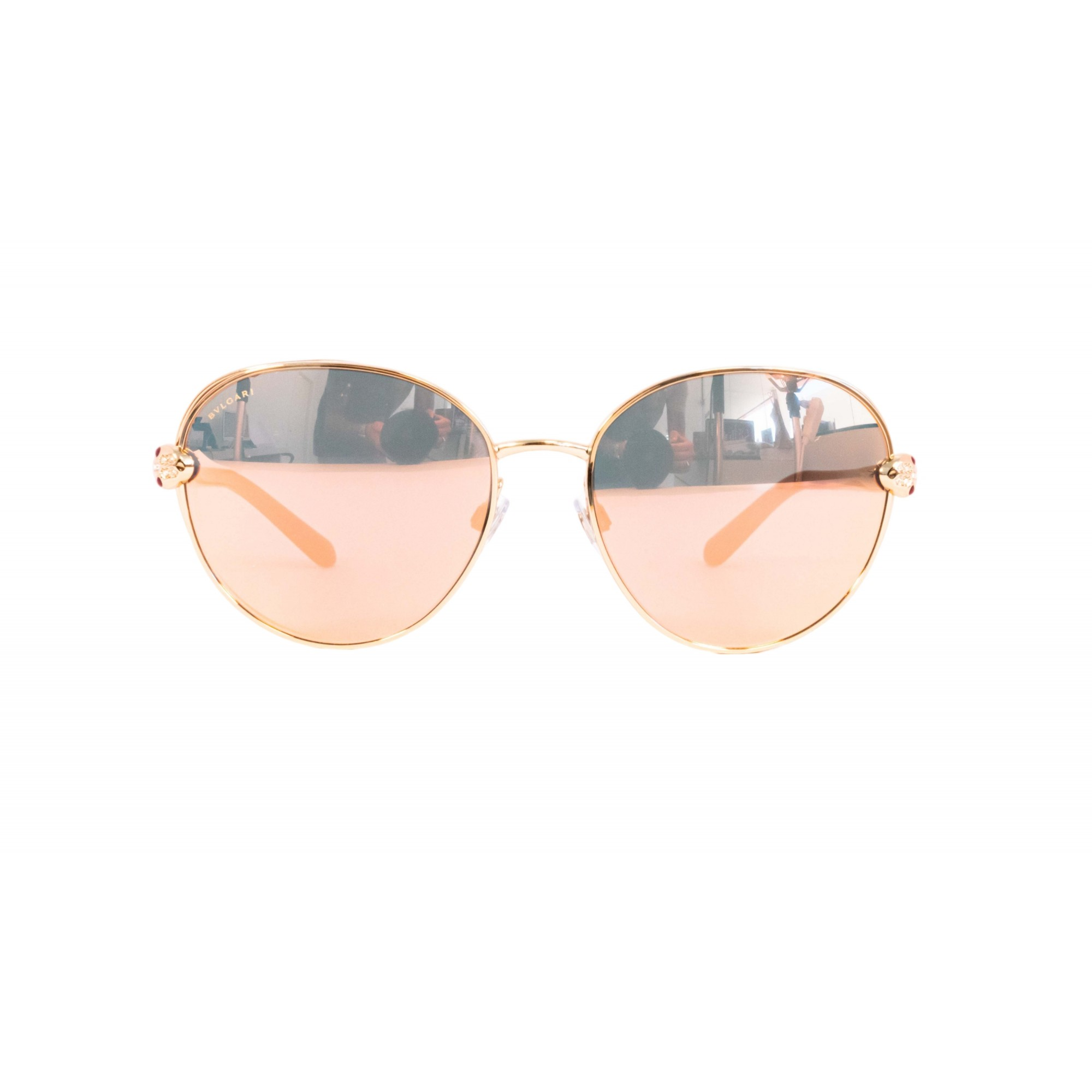 Óculos Bvlgari Clássico bv6087b 20144z 57 Dourado