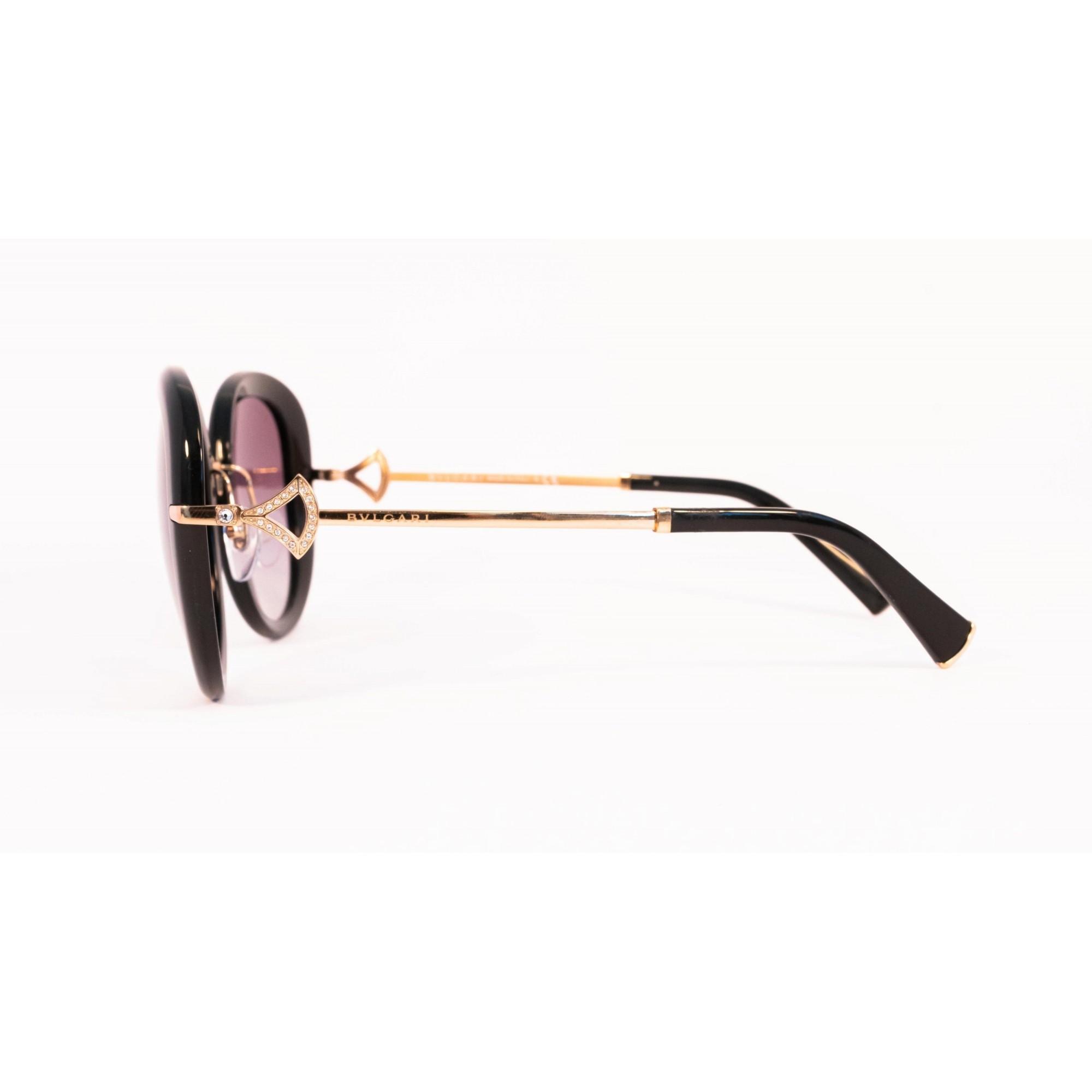 Óculos Bvlgari Redondo bv8196b 5018g 53 Dourado