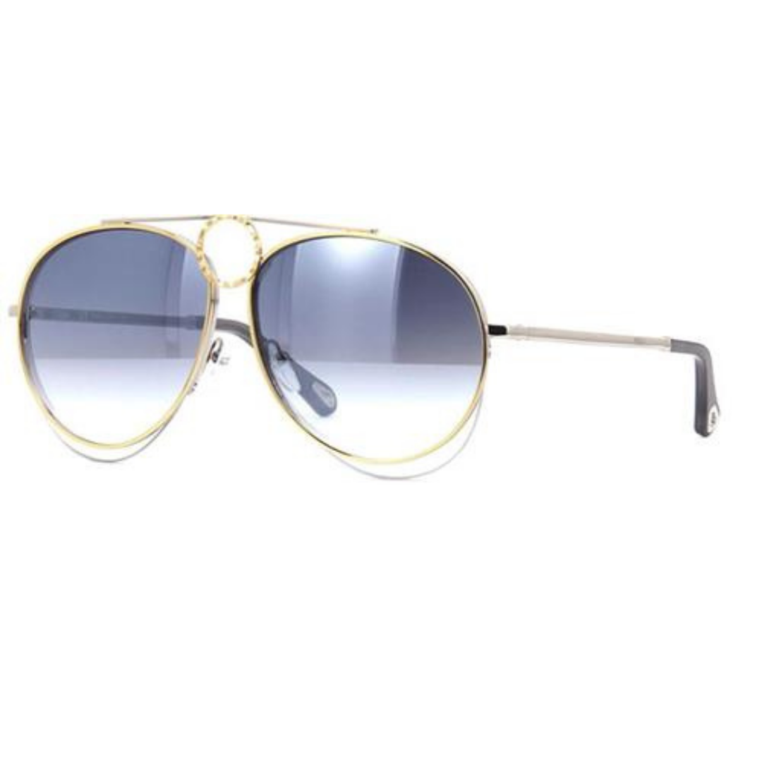 Óculos Chloé Aviador CE144S 050 61 Dourado