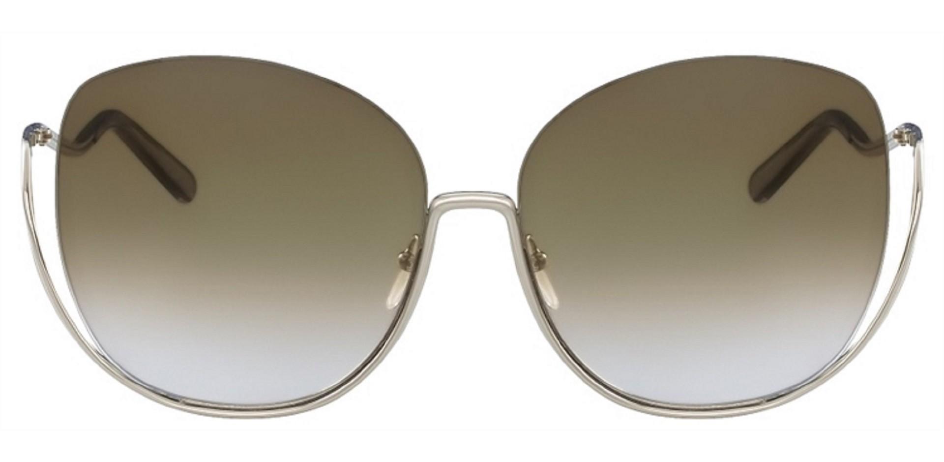 Óculos Chloe Redondo CE125S 760 64 Dourado Claro