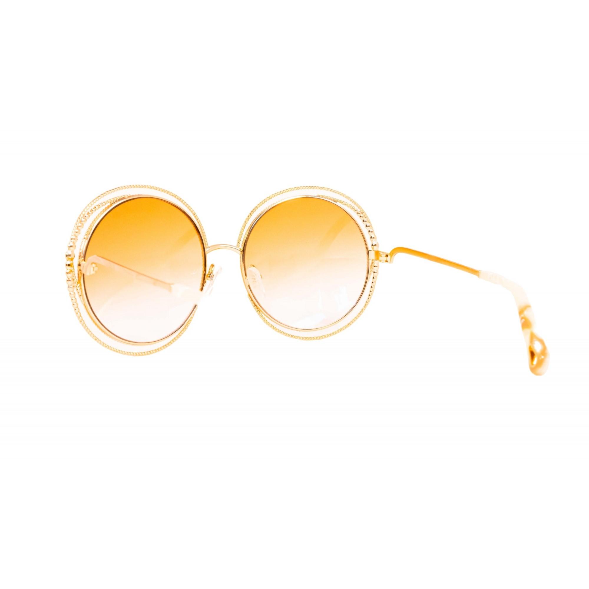 Óculos Chloe Redondo ce114sc 724 58 Dourado