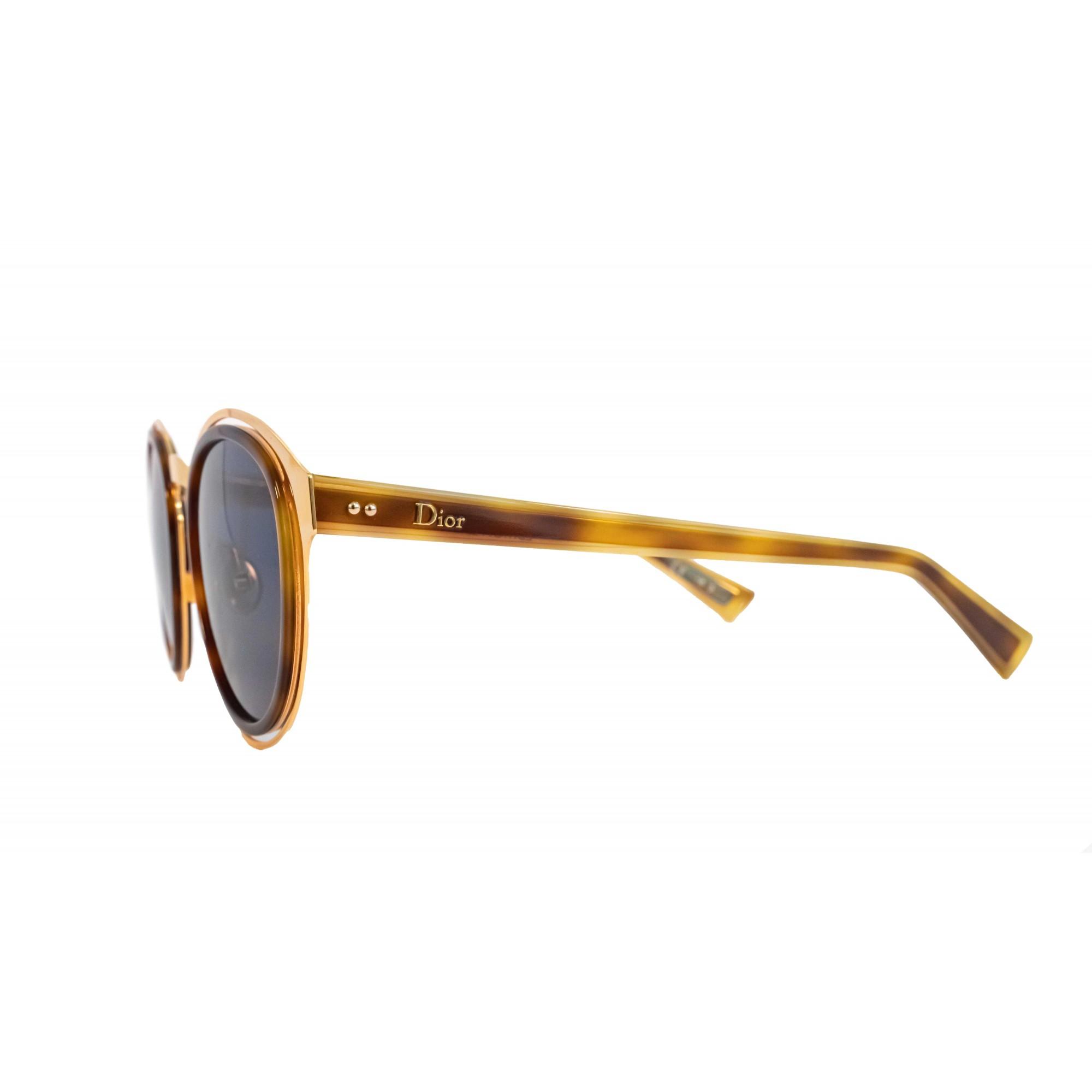Óculos Dior Redondo Obscure 06jku 49 Dourado