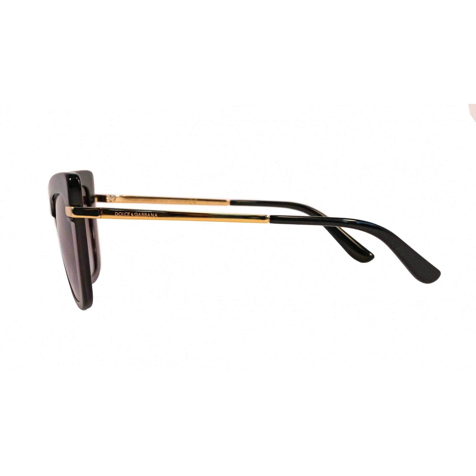 Óculos Dolce&Gabbana Cat Eye Dg4374 32468g 54 Preto