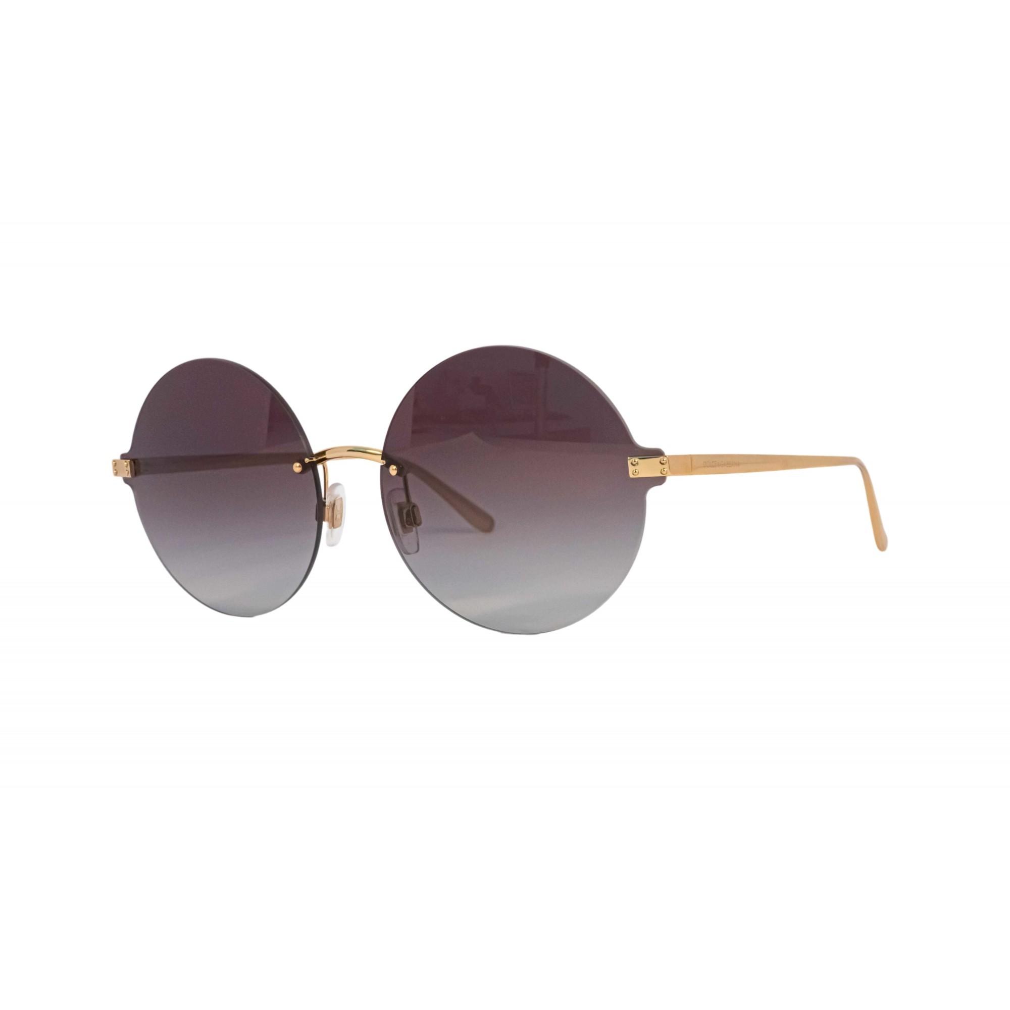 Óculos Dolce&Gabbana Redondo Dg2228 028g 62 Dourado