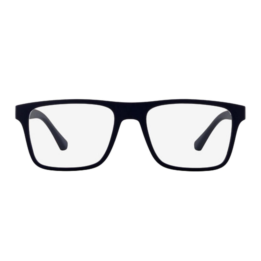 Óculos Emporio Armani Clip-On Quadrado EA4115 58541W 54 Azul/Vermelho