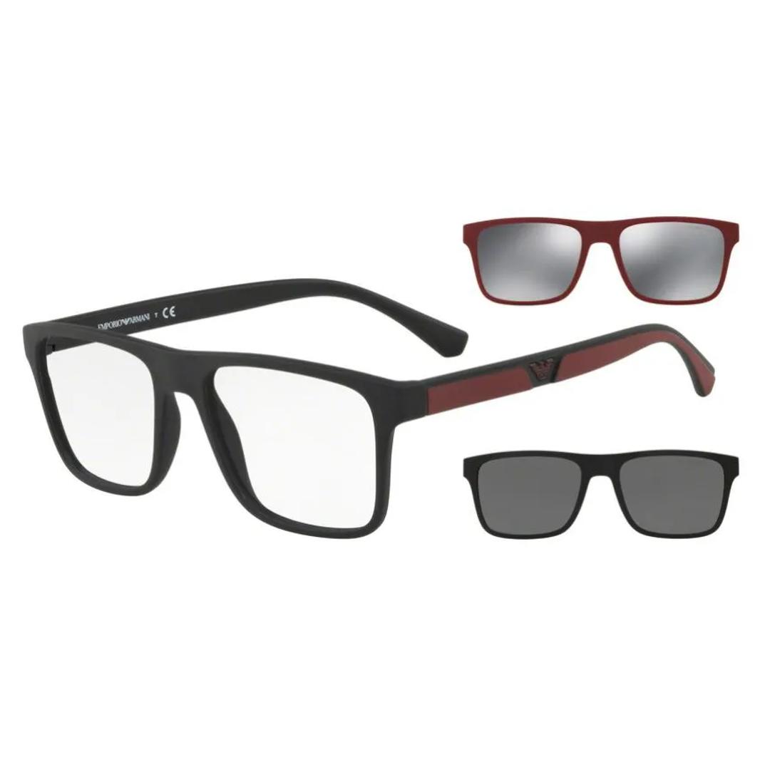 Óculos Emporio Armani EA4115 CLIPON2LT 50421W 54 Preto