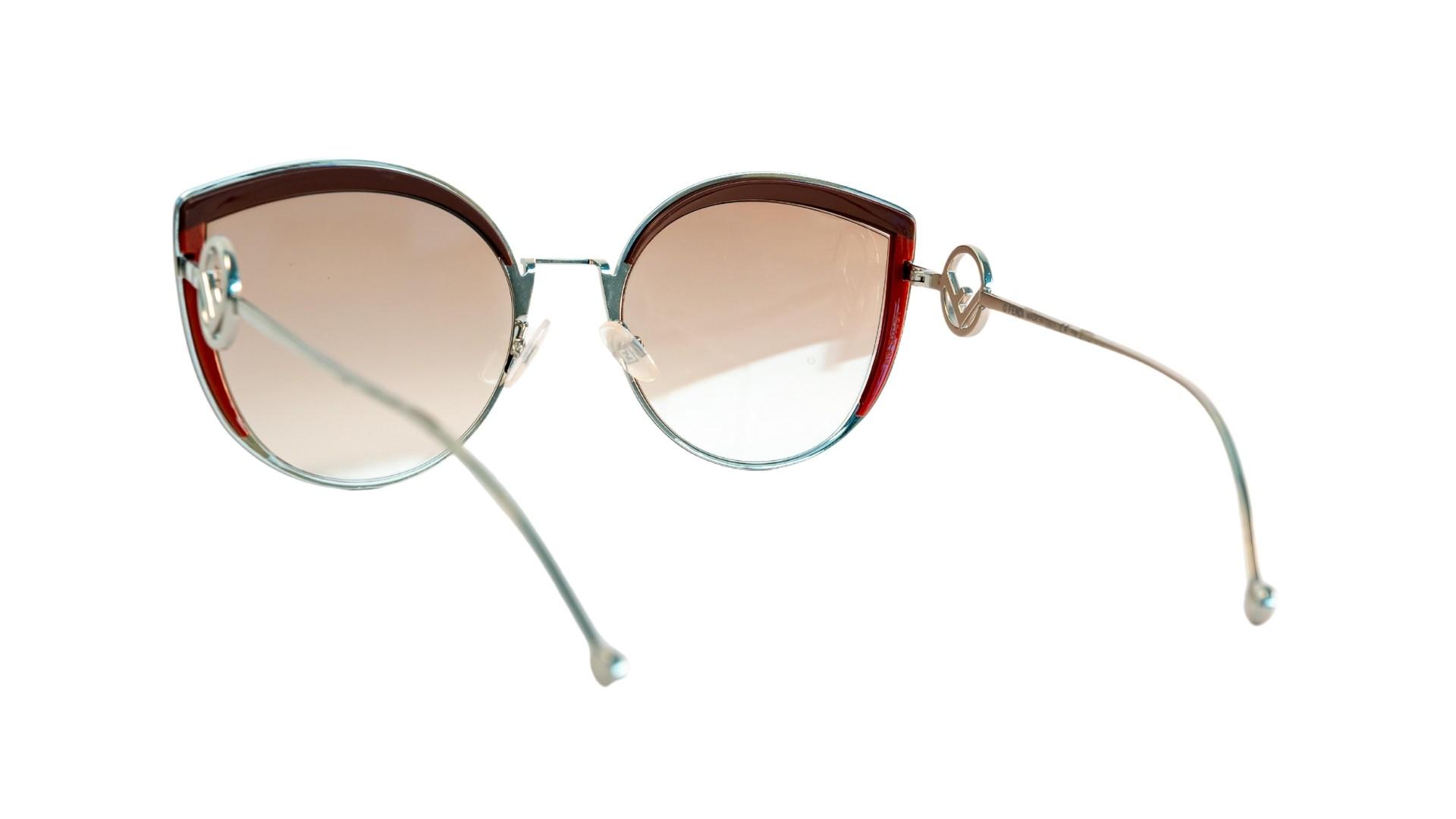 Óculos Fendi Cat-Eye FF0290S LHFHA 58 Prateado