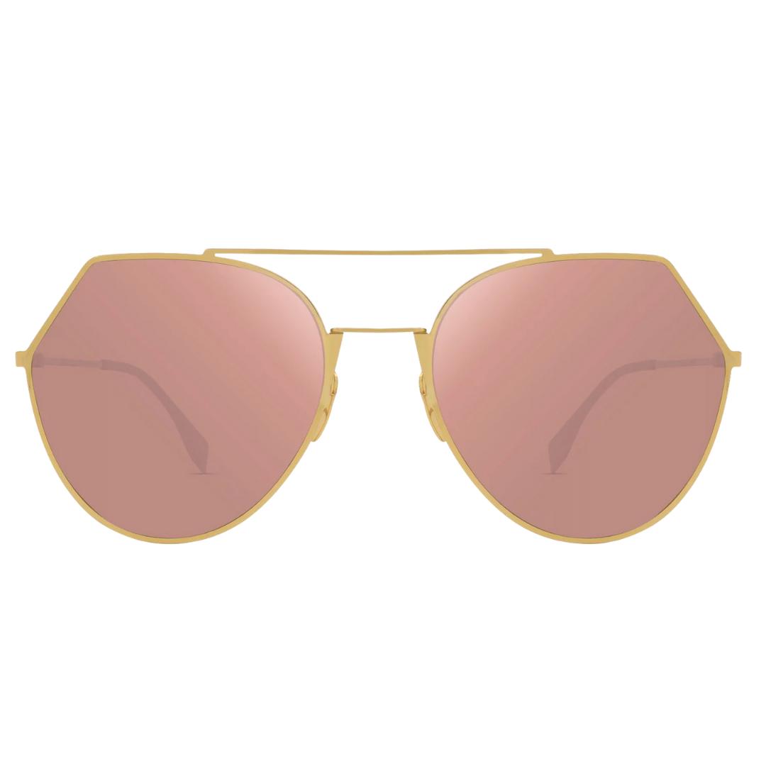 Óculos Fendi Irregular FF0194S DDBAP 55 Dourado