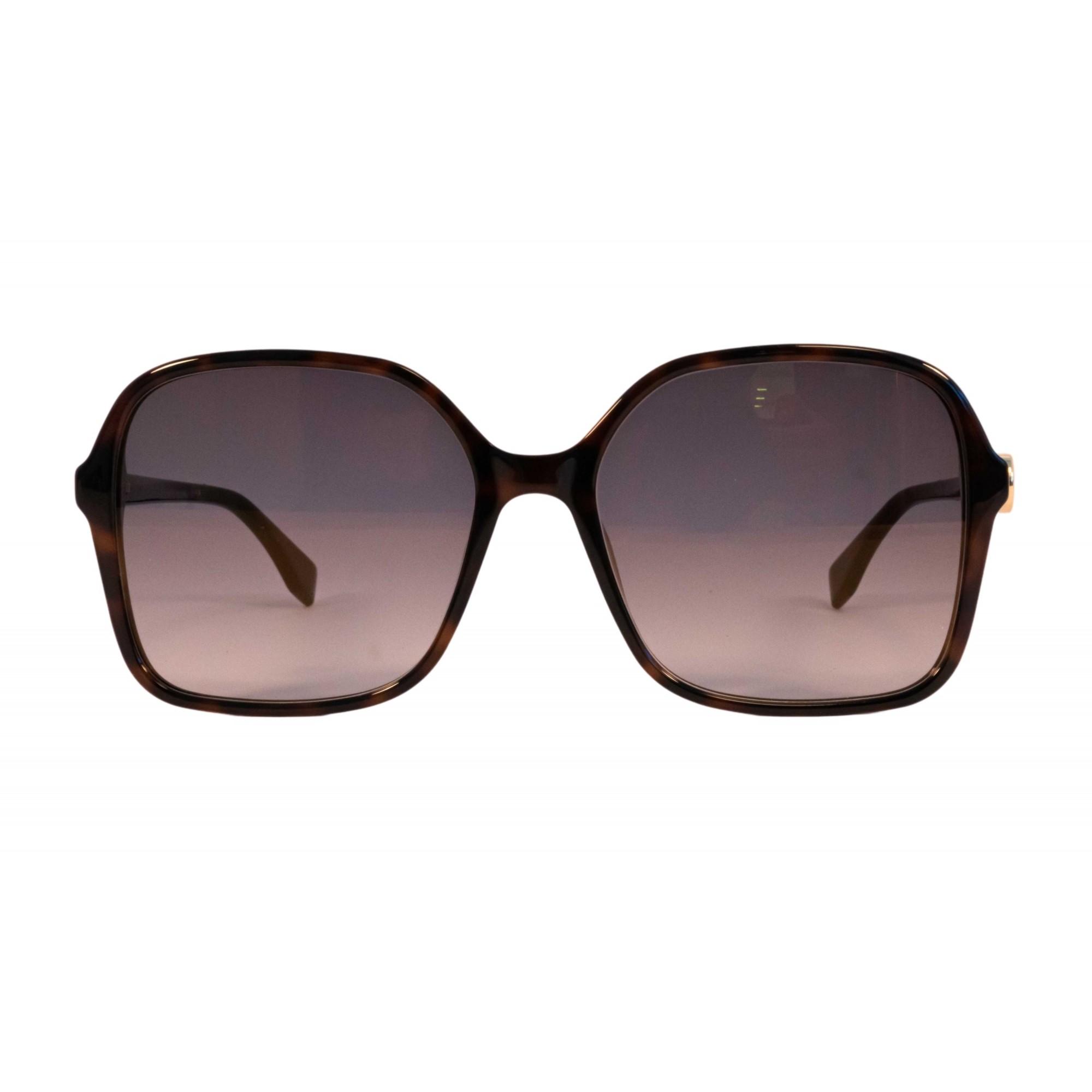 Óculos Fendi Quadrado Ff0287s 086fq 58 Tartaruga