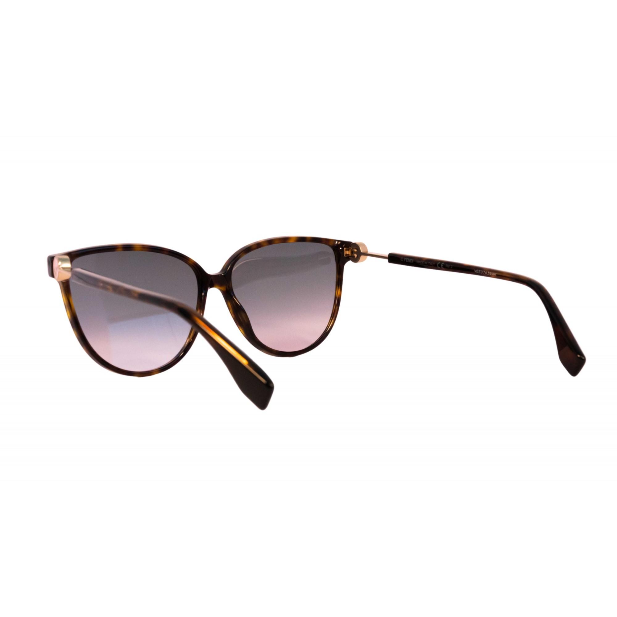 Óculos Fendi Clássico Ff0345S 086jp 59 Tartaruga Dourado