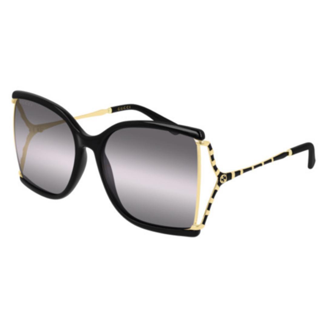 Óculos Gucci Quadrado GG0592S 002 60 Preto/Dourado