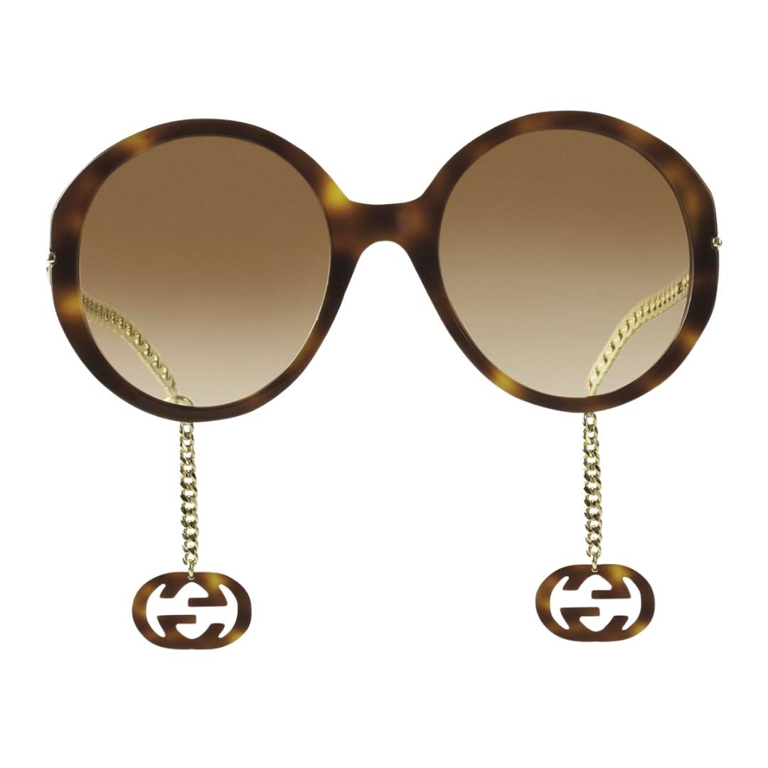 Óculos Gucci Redondo GG0726S 002 56 Havana