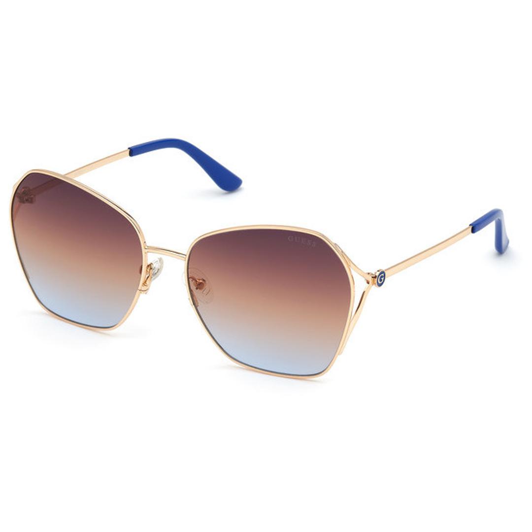 Óculos Guess Quadrado GU7687 32W 62 Dourado