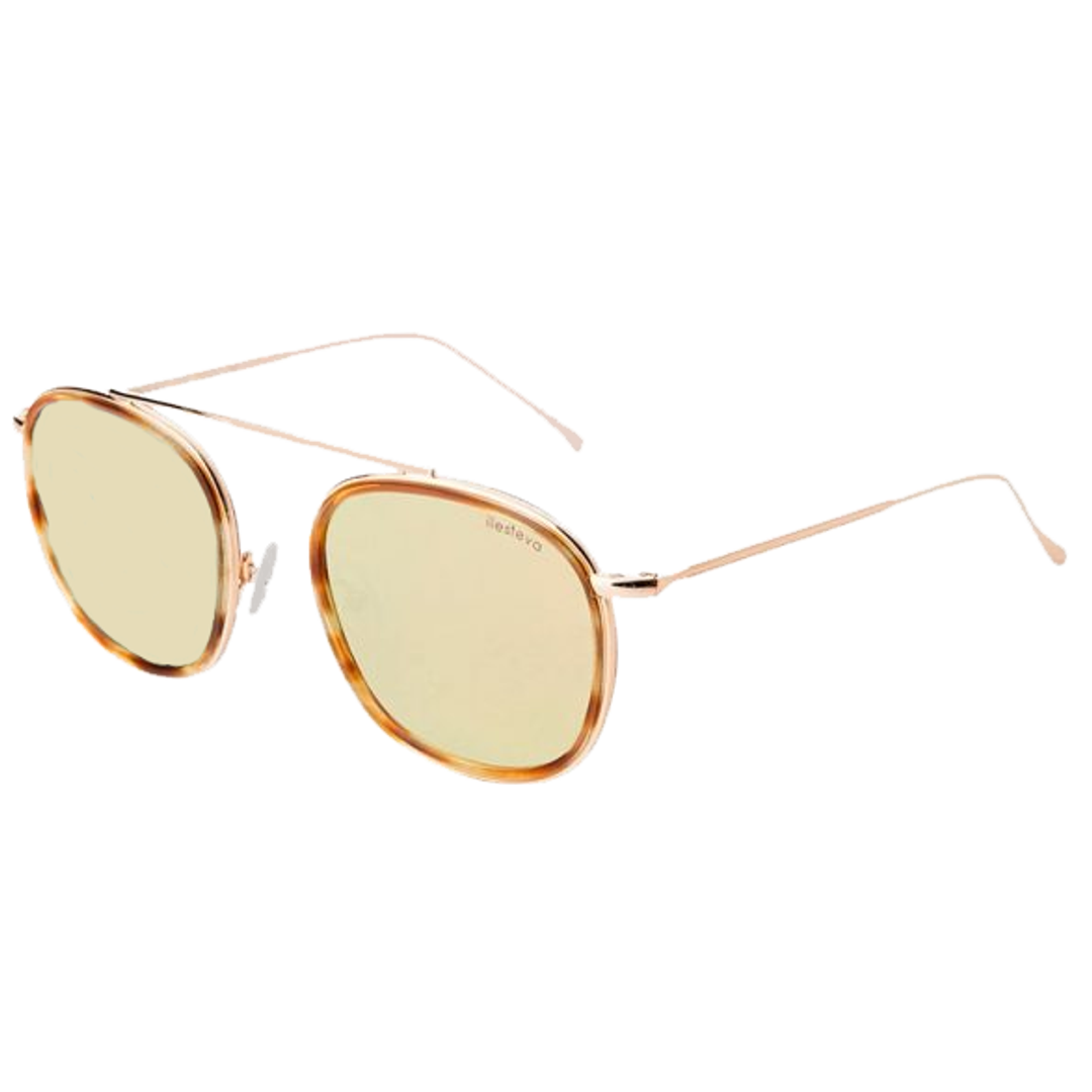 Óculos Illesteva Redondo MYKONOS ACE C31 Tartaruga/Dourado