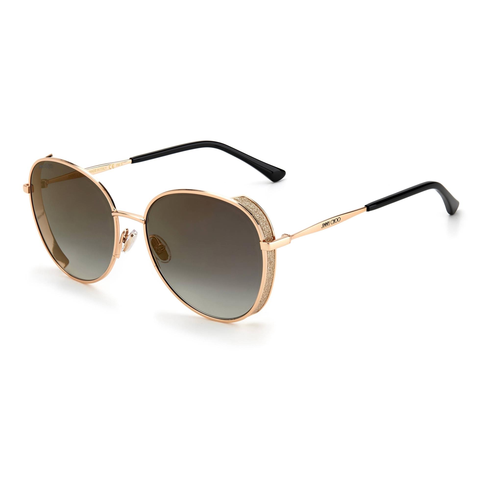 Óculos Jimmy Choo Felines Redondo DDBFQ 58 Dourado