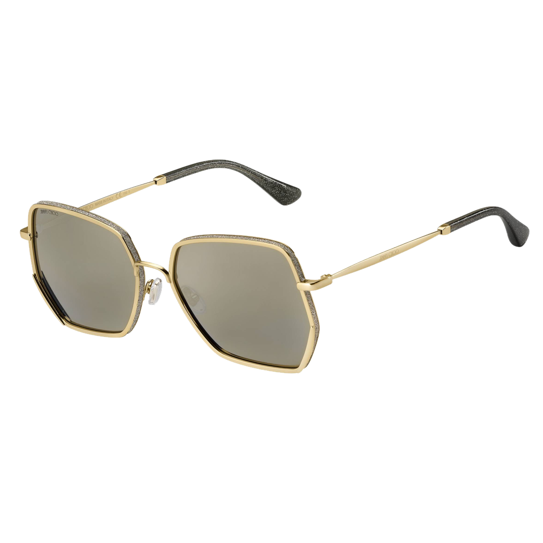 Óculos Jimmy Choo Hexagonal ALINES J5GJO Dourado
