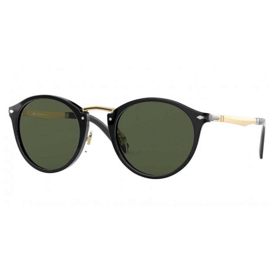 Óculos Persol Redondo PO3248S 9531 49 Preto com dourado
