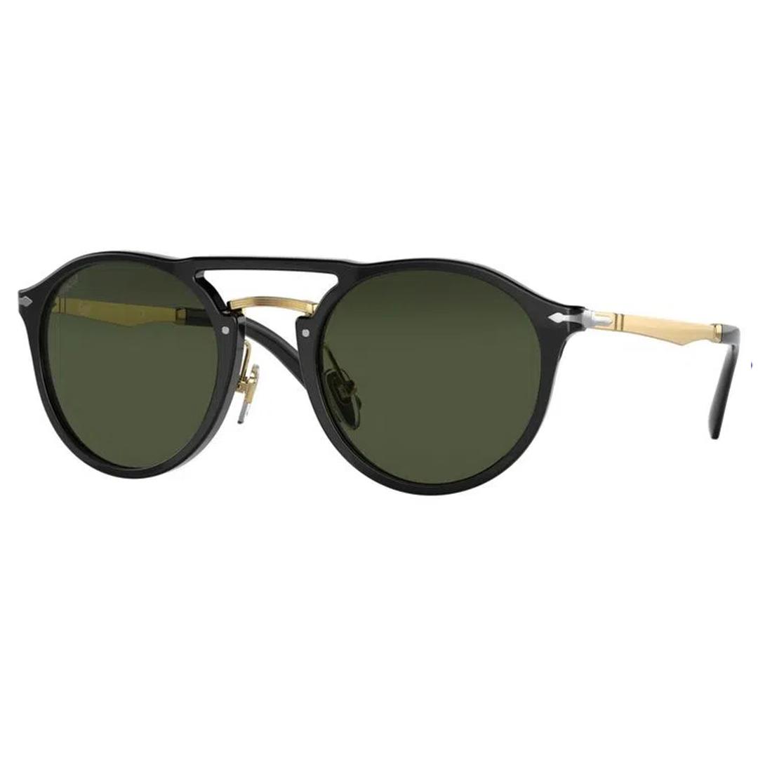 Óculos Persol Redondo PO3264S 9531 50 Preto/Dourado