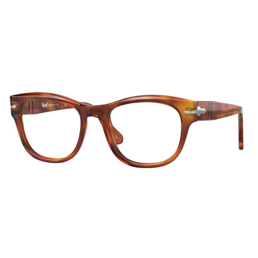 Óculos Persol Retangular PO3270V 96 52 Marrom Claro