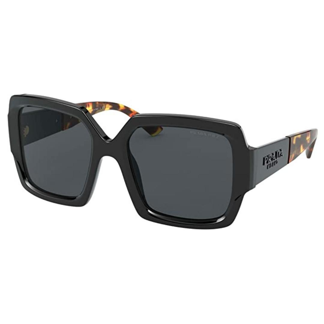 Óculos Prada Quadrado PR 21XS 1AB5Z1 55 Preto