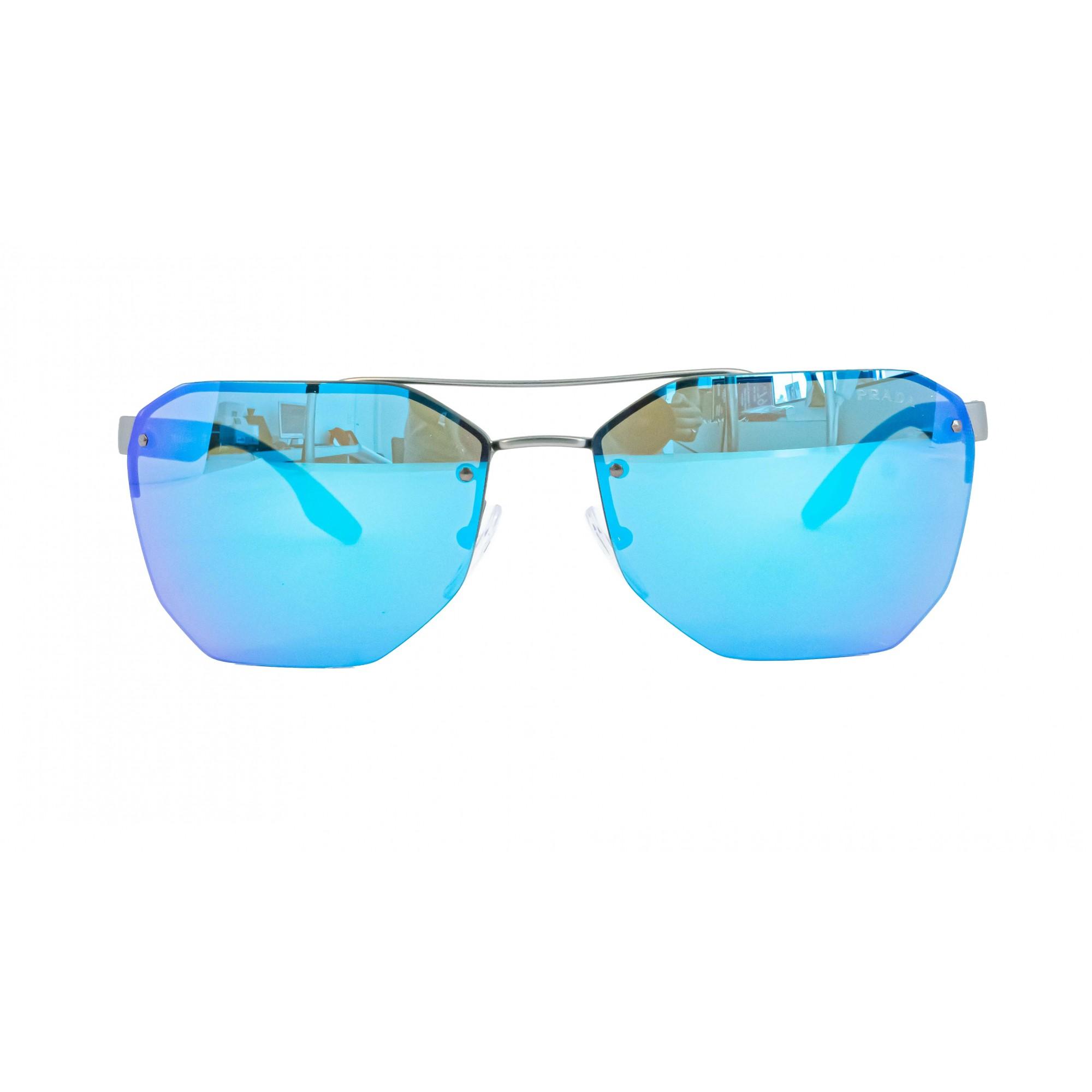 Óculos Prada Hexagonal Sps54v 7cq5m2 63 Preto