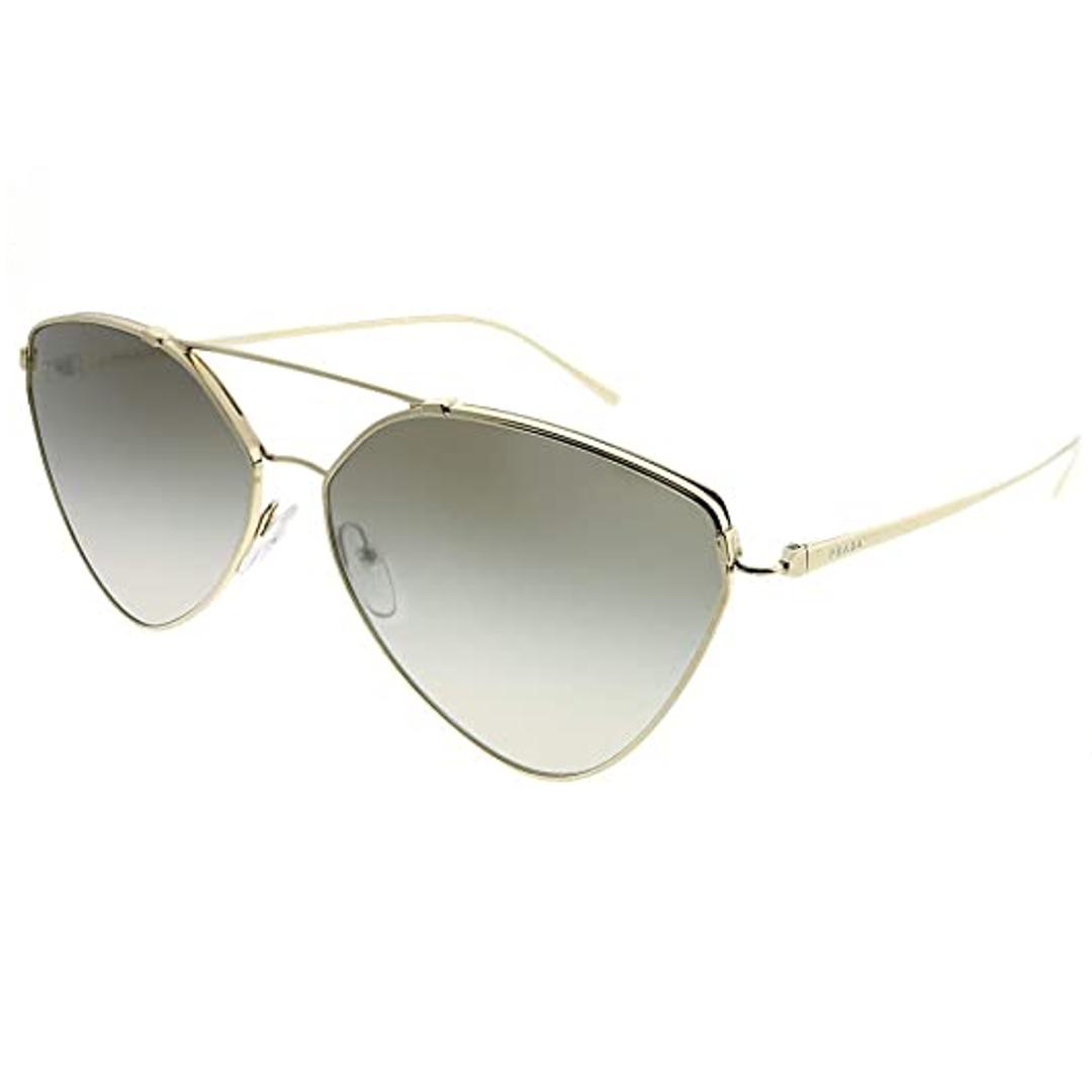 Óculos Prada Irregular SPR51U ZVN5O0 62 Dourado