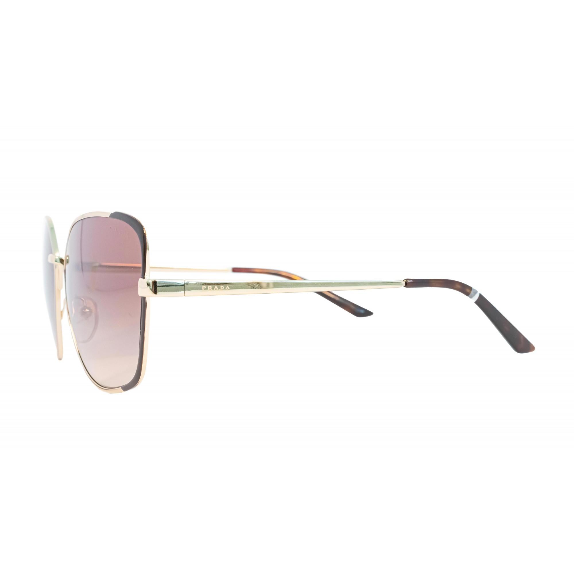 Óculos Prada Quadrado Spr60x Kof3d0 59 Dourado