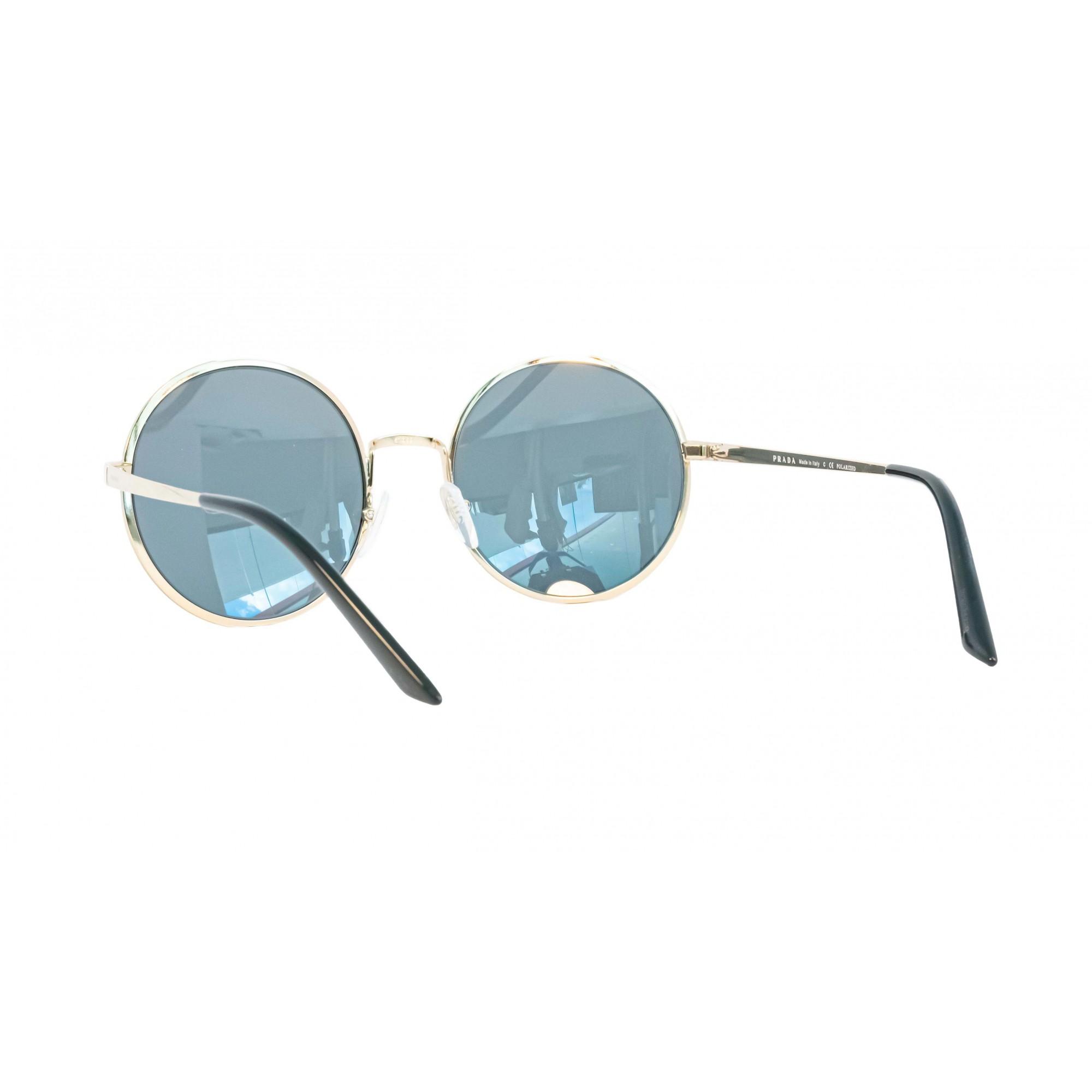 Óculos Prada Redondo Spr59x Qe35z1 57 Dourado